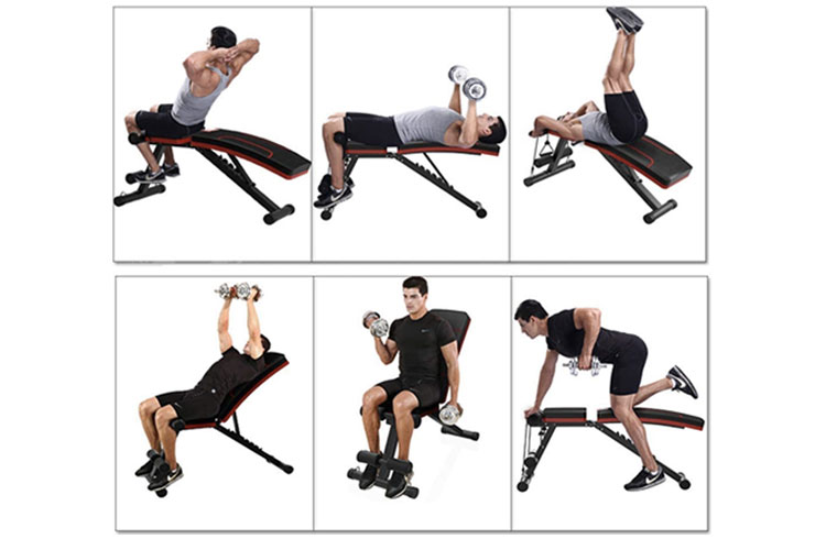 tipos de ejercicios para banco de pesas