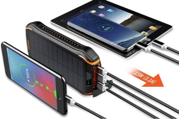 cargadores solares prueba