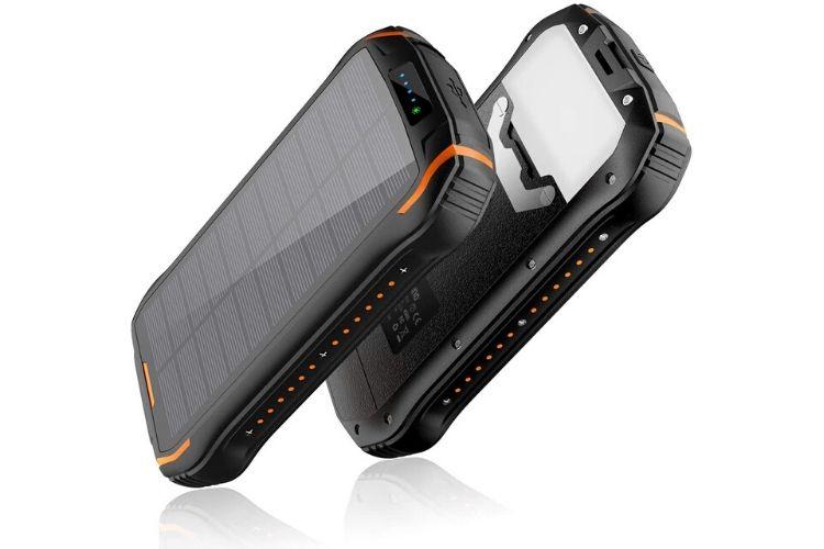 un cargador solar para celular