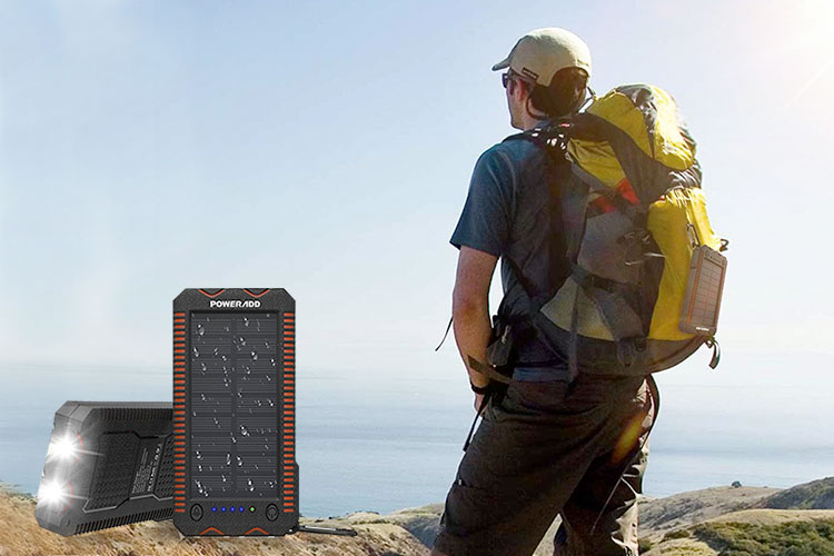 cargador solar camping