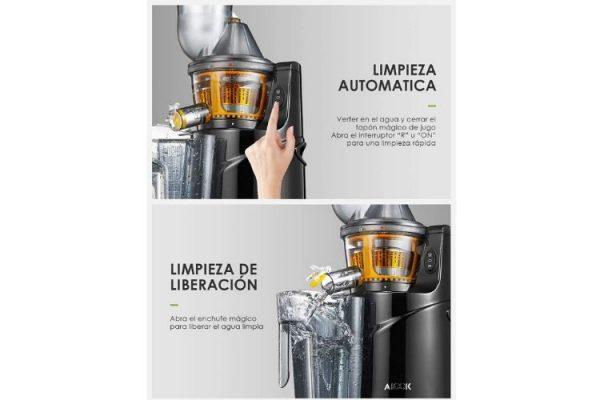 limpieza automatica del extractor