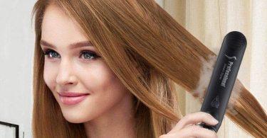 plancha de vapor para el pelo