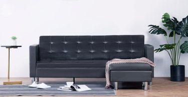 sofa cama esquinero de cuero sintetico