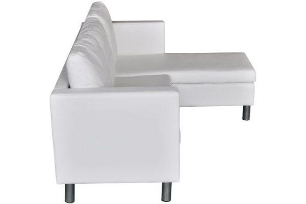 sofa de esquina blanco