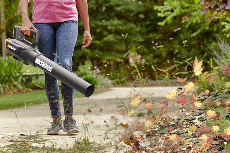soplador de hojas uso
