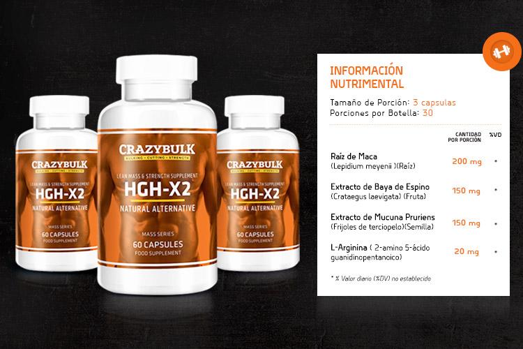 HGH-X2 aumento de masa muscular