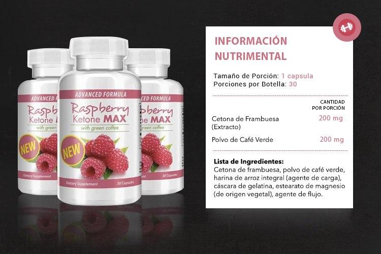 Raspberry Ketone Max ingredientes