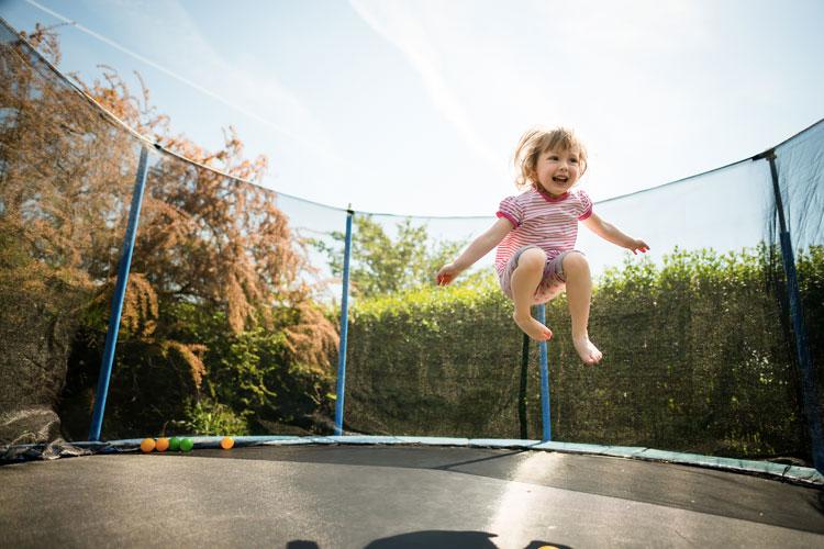 trampolin para niños