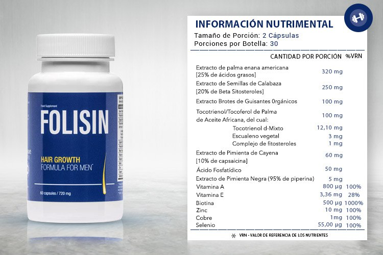 ingredientes del Folisin